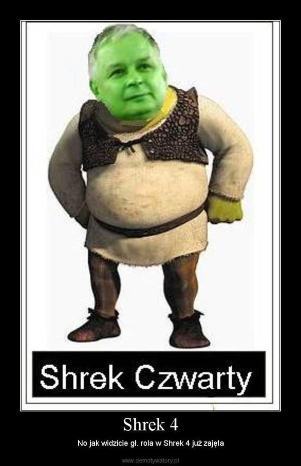Shrek 4 – No jak widzicie gł. rola w Shrek 4 już zajęta