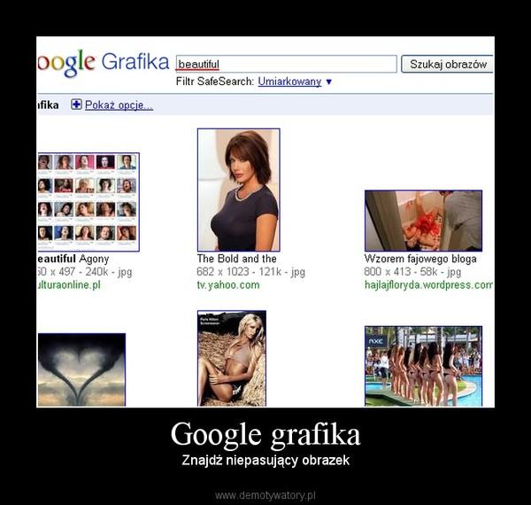 Google grafika – Znajdź niepasujący obrazek