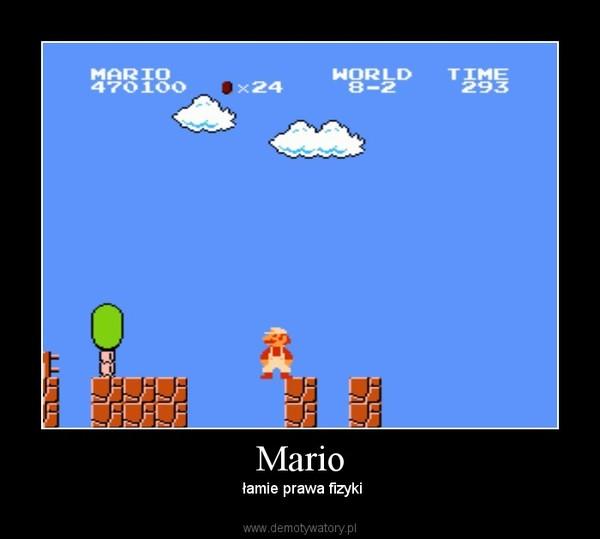 Mario –  łamie prawa fizyki