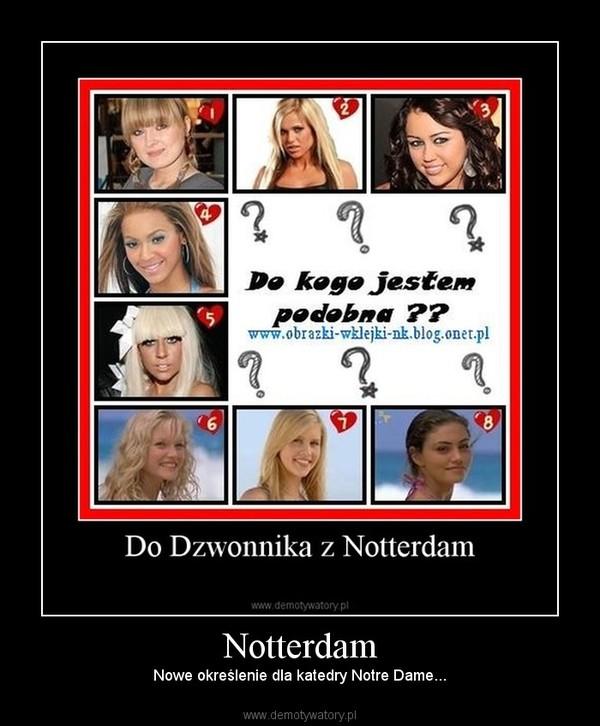 Notterdam – Nowe określenie dla katedry Notre Dame...