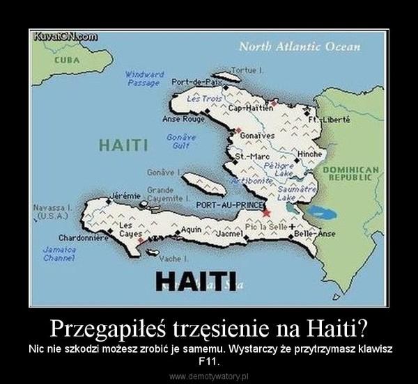 Przegapiłeś trzęsienie na Haiti? –  Nic nie szkodzi możesz zrobić je samemu. Wystarczy że przytrzymasz klawiszF11.