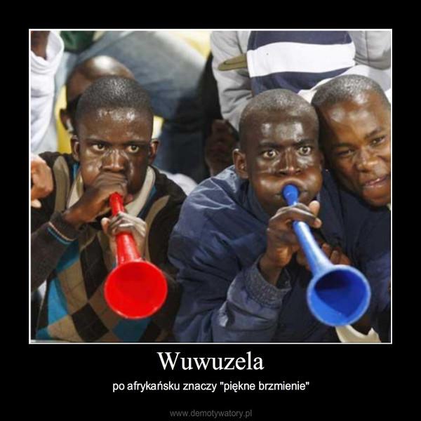 """Wuwuzela – po afrykańsku znaczy """"piękne brzmienie"""""""