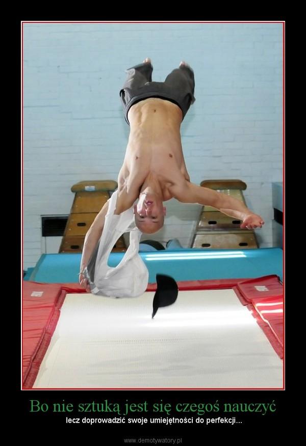 Bo nie sztuką jest się czegoś nauczyć –  lecz doprowadzić swoje umiejętności do perfekcji...