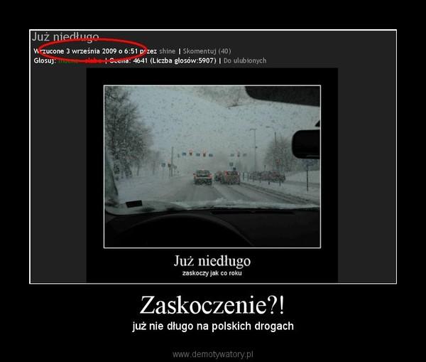 Zaskoczenie?! – już nie długo na polskich drogach