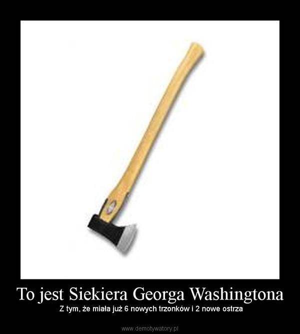 To jest Siekiera Georga Washingtona – Z tym, że miała już 6 nowych trzonków i 2 nowe ostrza
