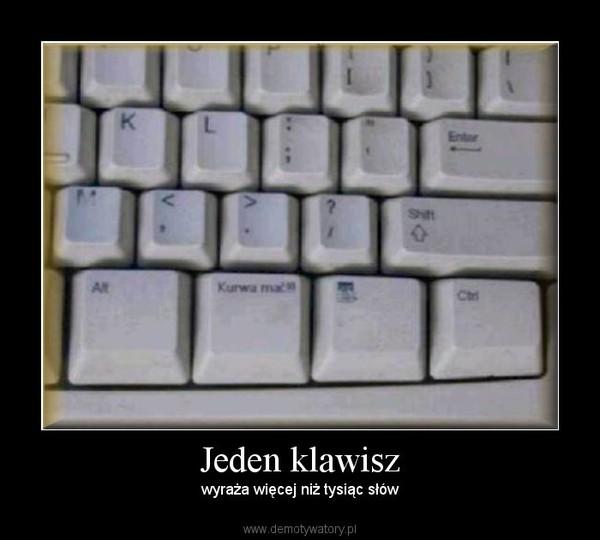 Jeden klawisz – wyraża więcej niż tysiąc słów