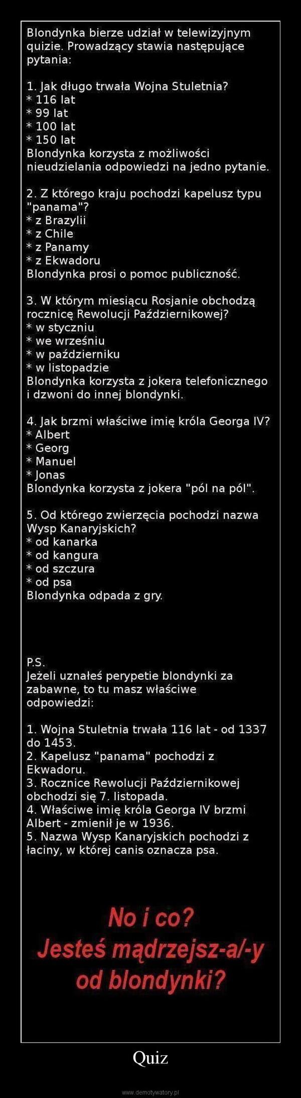 Quiz –