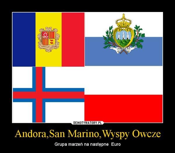 Andora,San Marino,Wyspy Owcze – Grupa marzeń na następne  Euro