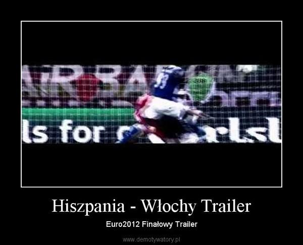 Hiszpania - Włochy Trailer – Euro2012 Finałowy Trailer
