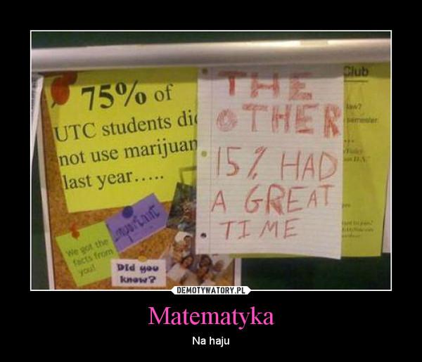 Matematyka – Na haju