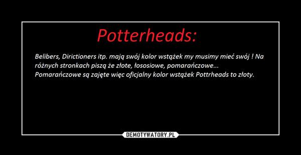 Potterheads: – złote wstążki !