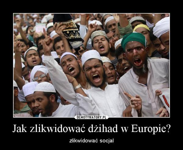 Jak zlikwidować dżihad w Europie? – zlikwidować socjal
