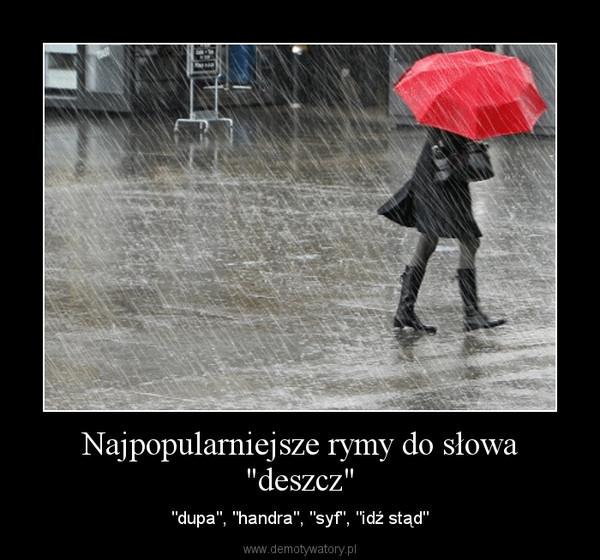 """Najpopularniejsze rymy do słowa """"deszcz"""" – """"dupa"""", """"handra"""", """"syf"""", """"idź stąd"""""""