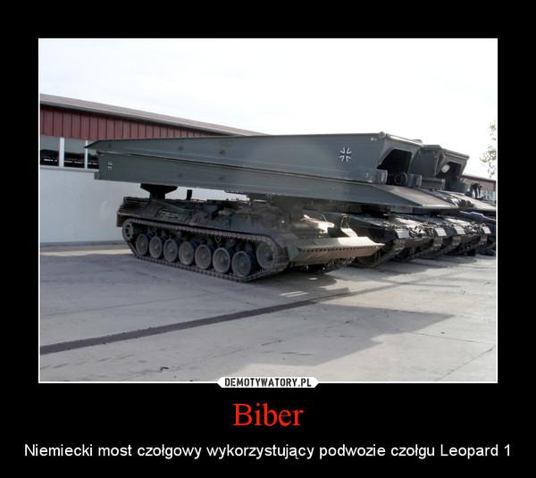 Biber – Niemiecki most czołgowy wykorzystujący podwozie czołgu Leopard 1