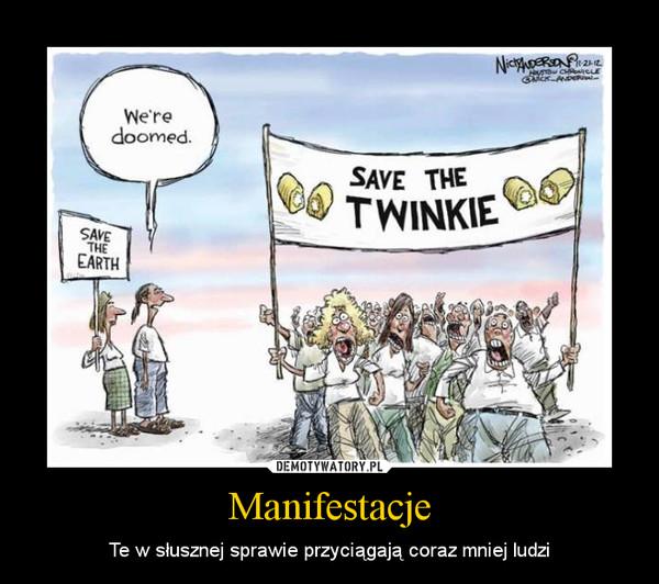 Manifestacje – Te w słusznej sprawie przyciągają coraz mniej ludzi