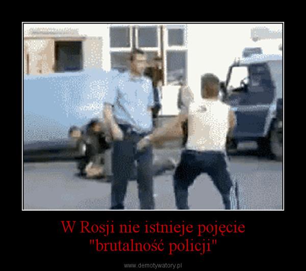 """W Rosji nie istnieje pojęcie""""brutalność policji"""" –"""