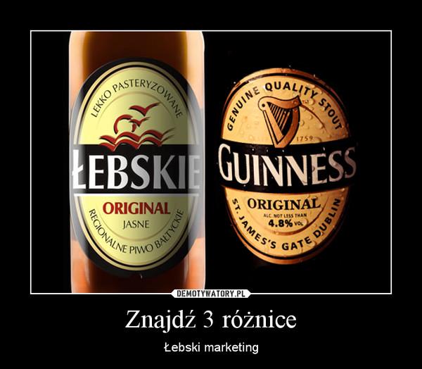 Znajdź 3 różnice – Łebski marketing