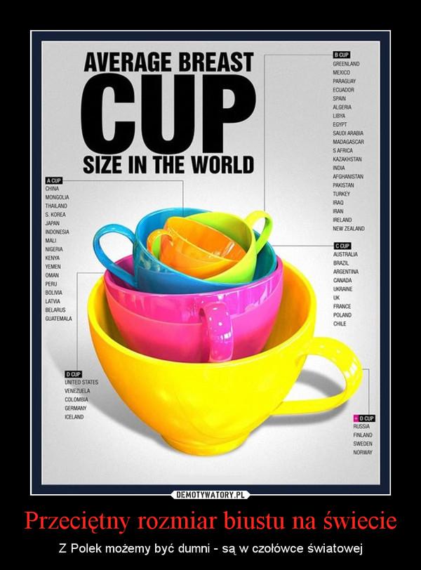 Przeciętny rozmiar biustu na świecie – Z Polek możemy być dumni - są w czołówce światowej