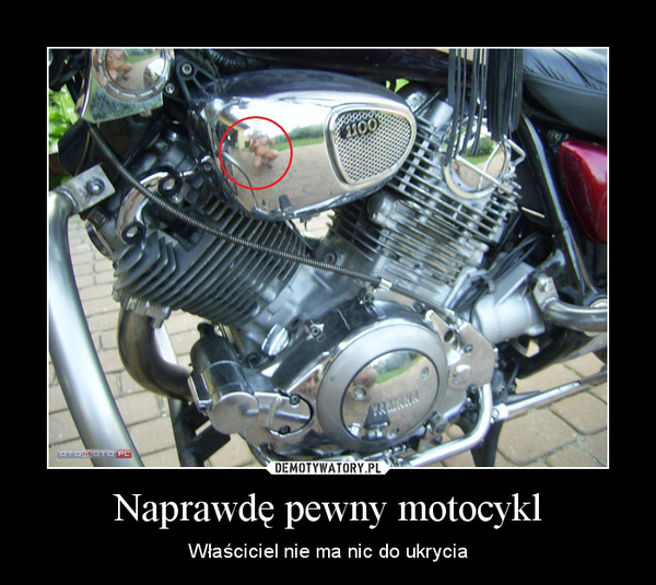 Naprawdę pewny motocykl – Właściciel nie ma nic do ukrycia