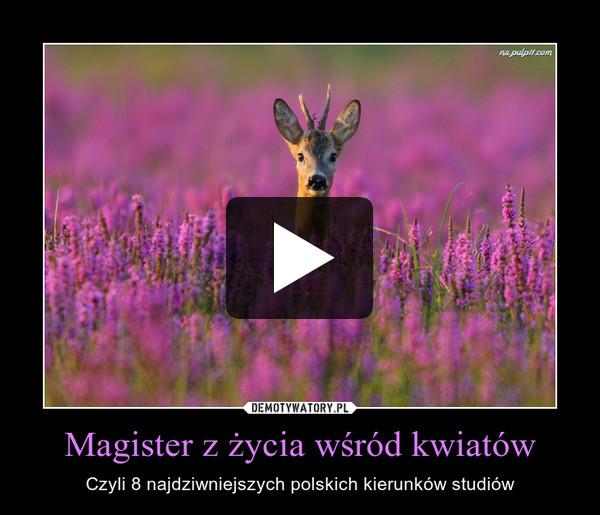 Magister z życia wśród kwiatów – Czyli 8 najdziwniejszych polskich kierunków studiów