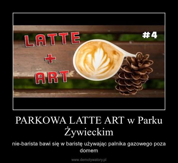 PARKOWA LATTE ART w Parku Żywieckim – nie-barista bawi się w baristę używając palnika gazowego poza domem