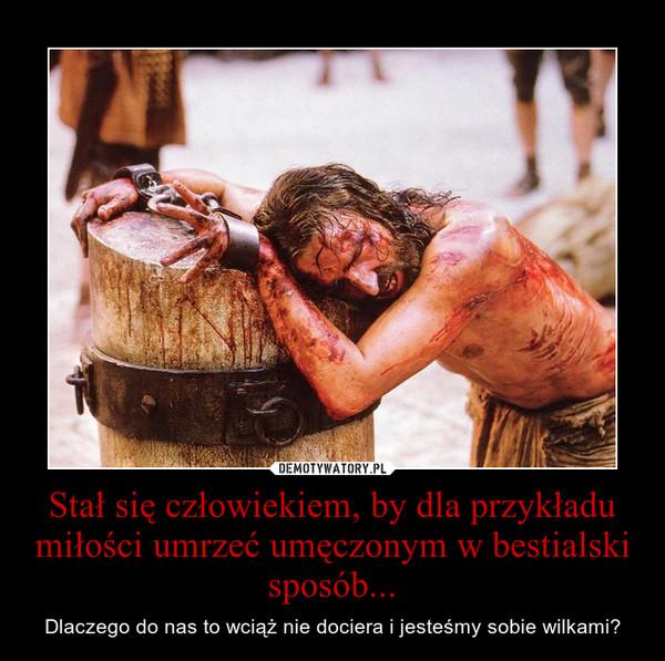 Stał się człowiekiem, by dla przykładu miłości umrzeć umęczonym w bestialski sposób... – Dlaczego do nas to wciąż nie dociera i jesteśmy sobie wilkami?