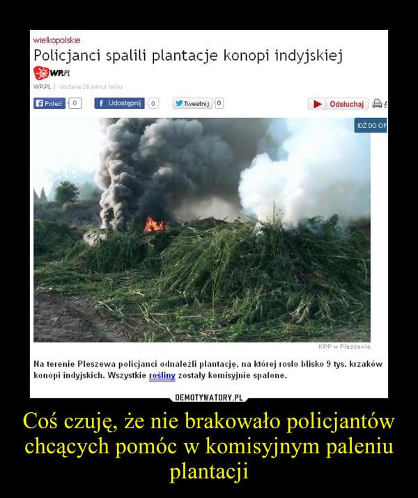 Coś czuję, że nie brakowało policjantów chcących pomóc w komisyjnym paleniu plantacji –