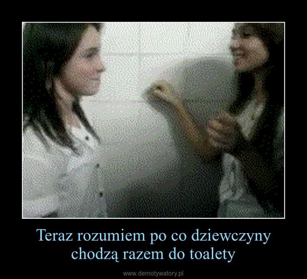 Teraz rozumiem po co dziewczyny chodzą razem do toalety –