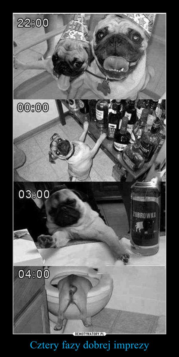 Cztery fazy dobrej imprezy –