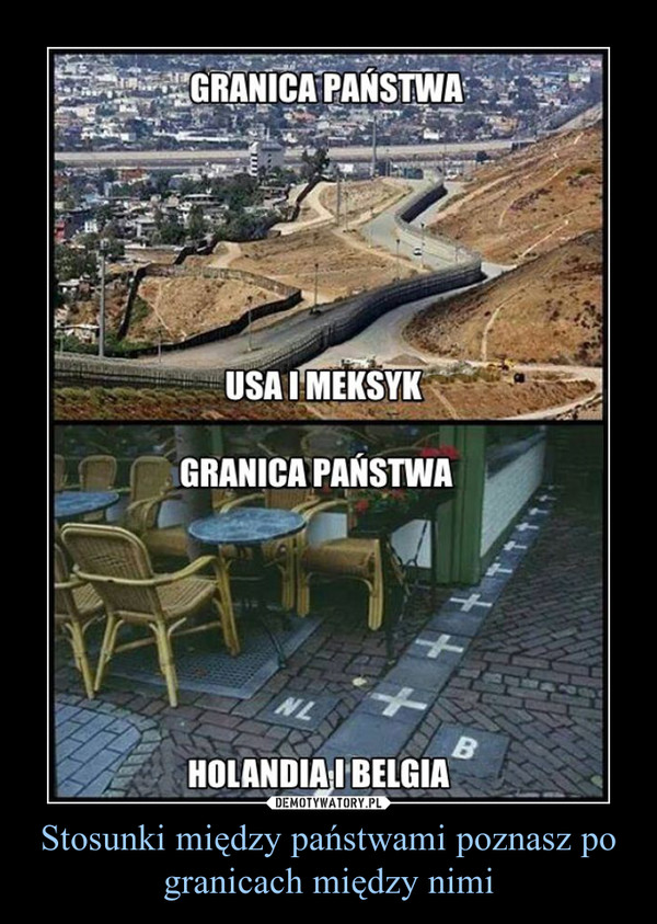 Stosunki między państwami poznasz po granicach między nimi –
