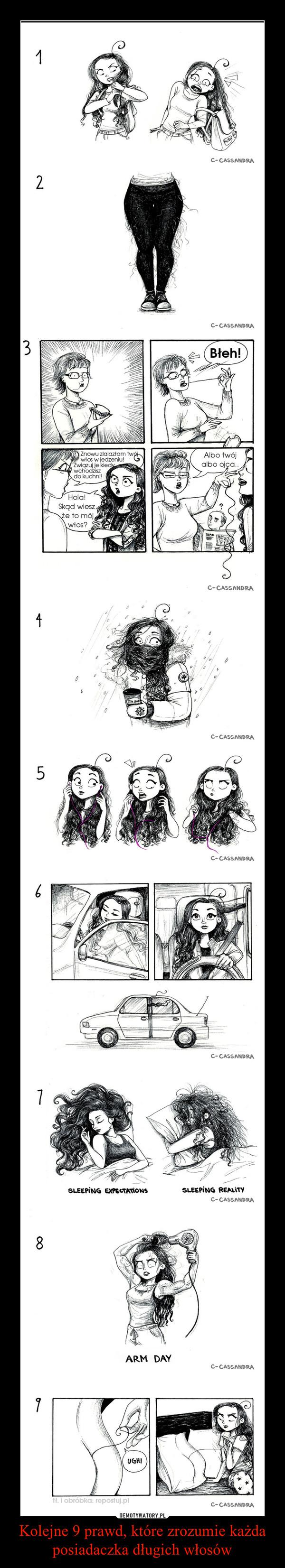 Kolejne 9 prawd, które zrozumie każda posiadaczka długich włosów –