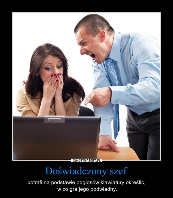 Doświadczony szef – potrafi na podstawie odgłosów klawiatury określić, w co gra jego podwładny.