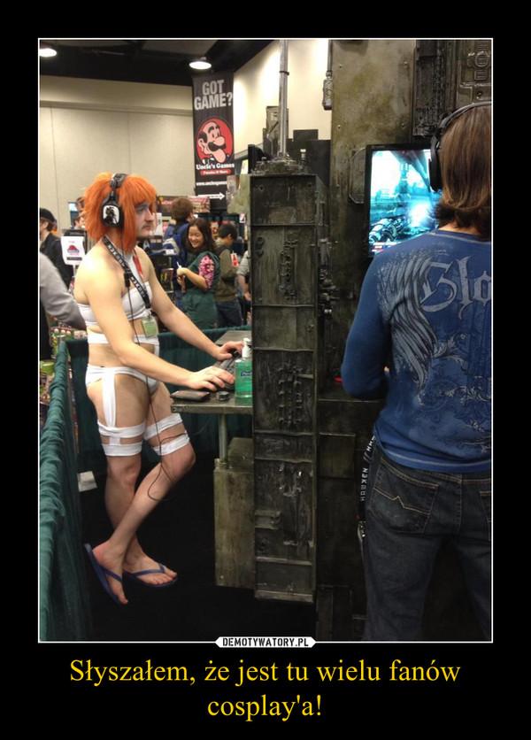 Słyszałem, że jest tu wielu fanów cosplay'a! –