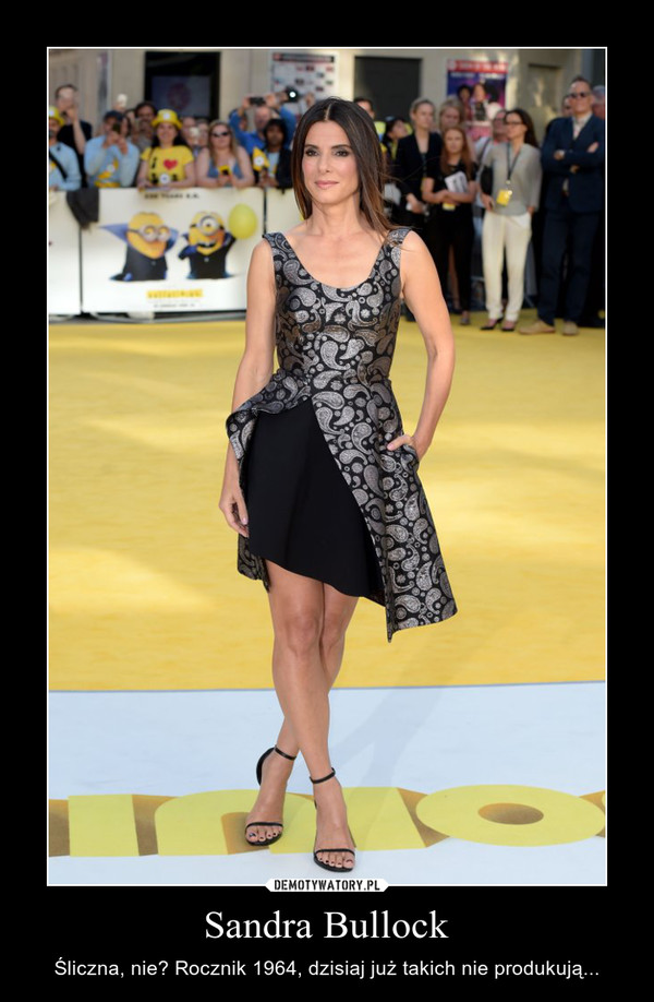 Sandra Bullock – Śliczna, nie? Rocznik 1964, dzisiaj już takich nie produkują...