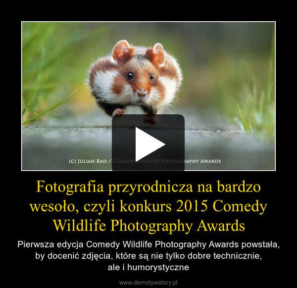Fotografia przyrodnicza na bardzo wesoło, czyli konkurs 2015 Comedy Wildlife Photography Awards – Pierwsza edycja Comedy Wildlife Photography Awards powstała, by docenić zdjęcia, które są nie tylko dobre technicznie,ale i humorystyczne