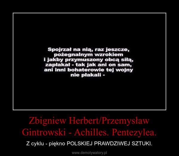 Zbigniew Herbert/Przemysław Gintrowski - Achilles. Pentezylea. – Z cyklu - piękno POLSKIEJ PRAWDZIWEJ SZTUKI.