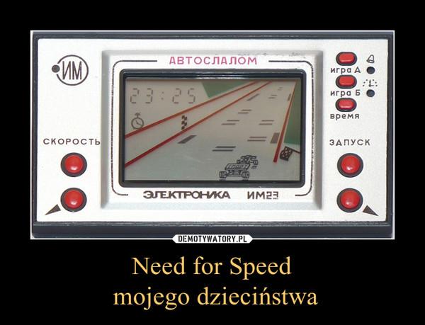 Need for Speed mojego dzieciństwa –