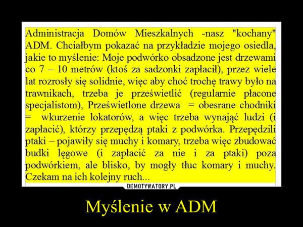 Myślenie w ADM –