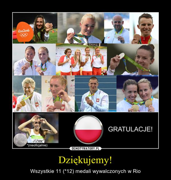Dziękujemy! – Wszystkie 11 (*12) medali wywalczonych w Rio