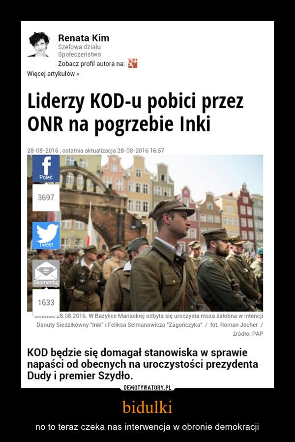 bidulki – no to teraz czeka nas interwencja w obronie demokracji