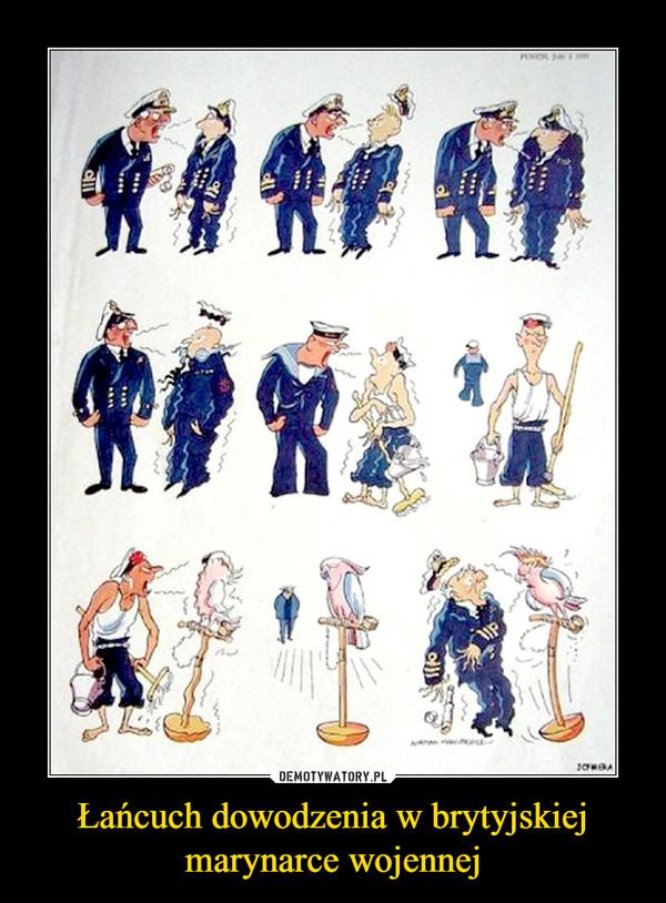 Łańcuch dowodzenia w brytyjskiej marynarce wojennej –