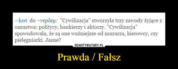 Prawda / Fałsz –