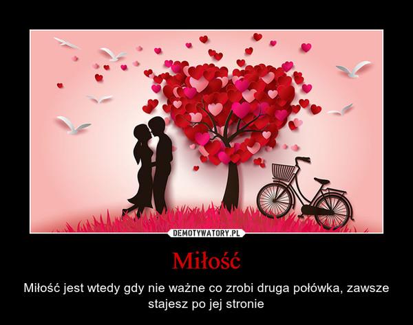 Miłość – Miłość jest wtedy gdy nie ważne co zrobi druga połówka, zawsze stajesz po jej stronie