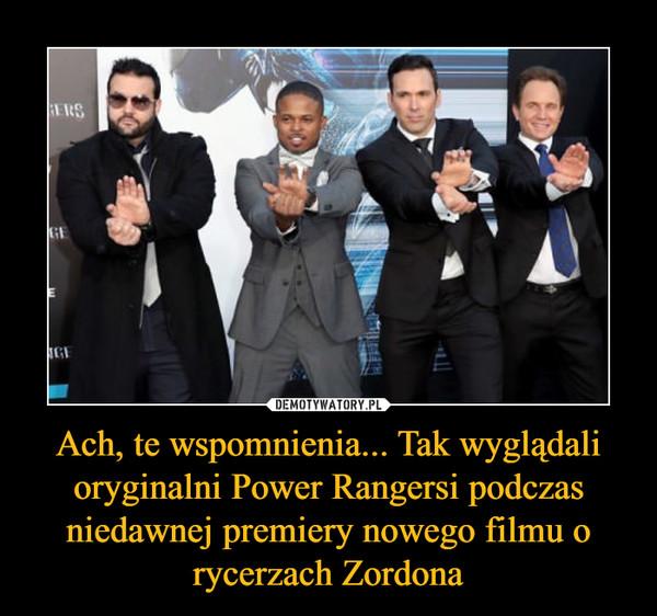 Ach, te wspomnienia... Tak wyglądali oryginalni Power Rangersi podczas niedawnej premiery nowego filmu o rycerzach Zordona –