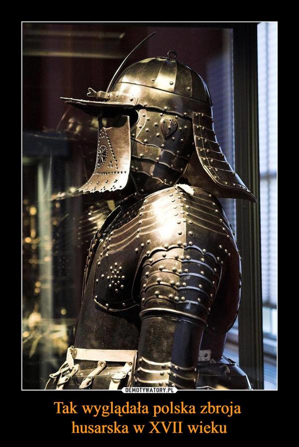 Tak wyglądała polska zbroja husarska w XVII wieku –
