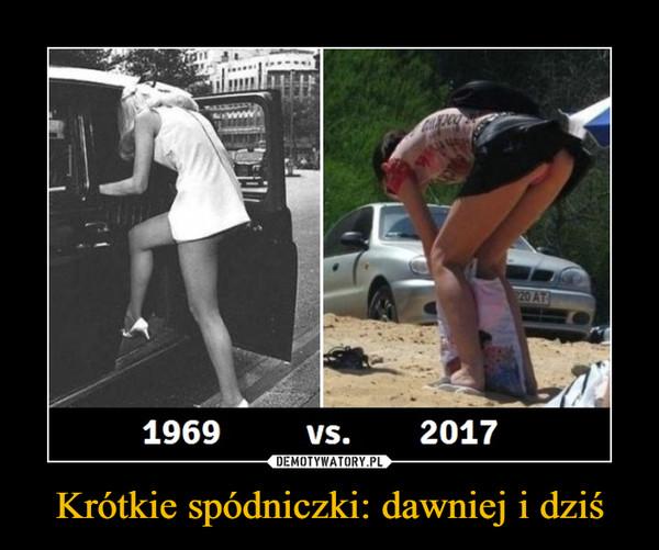 Krótkie spódniczki: dawniej i dziś –