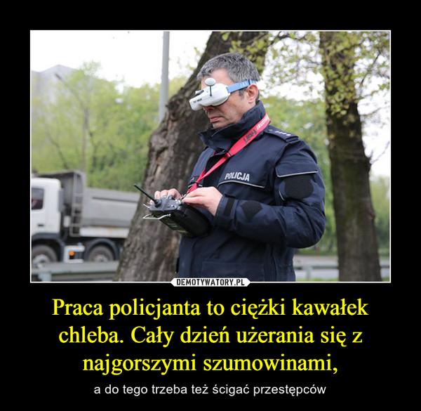 Praca policjanta to ciężki kawałek chleba. Cały dzień użerania się z najgorszymi szumowinami, – a do tego trzeba też ścigać przestępców