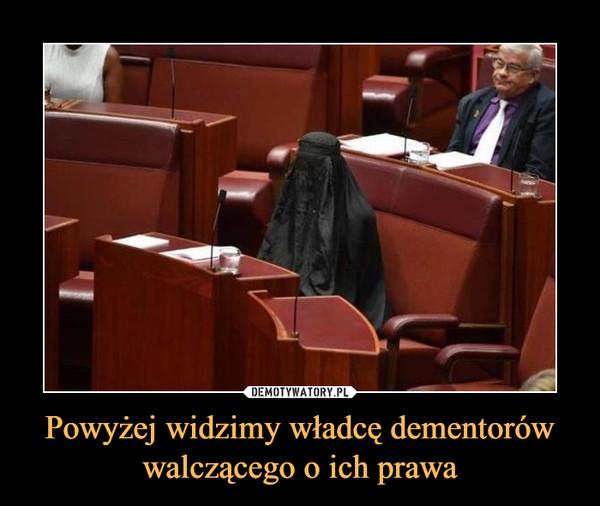 Powyżej widzimy władcę dementorów walczącego o ich prawa –