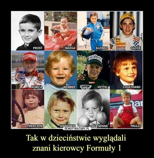 Tak w dzieciństwie wyglądali  znani kierowcy Formuły 1