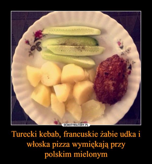 Turecki kebab, francuskie żabie udka i włoska pizza wymiękają przy polskim mielonym  –
